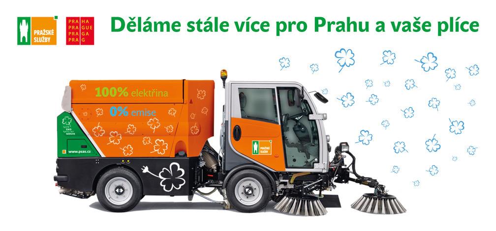 Pražské služby představí nové úklidové vozy na elektropohon