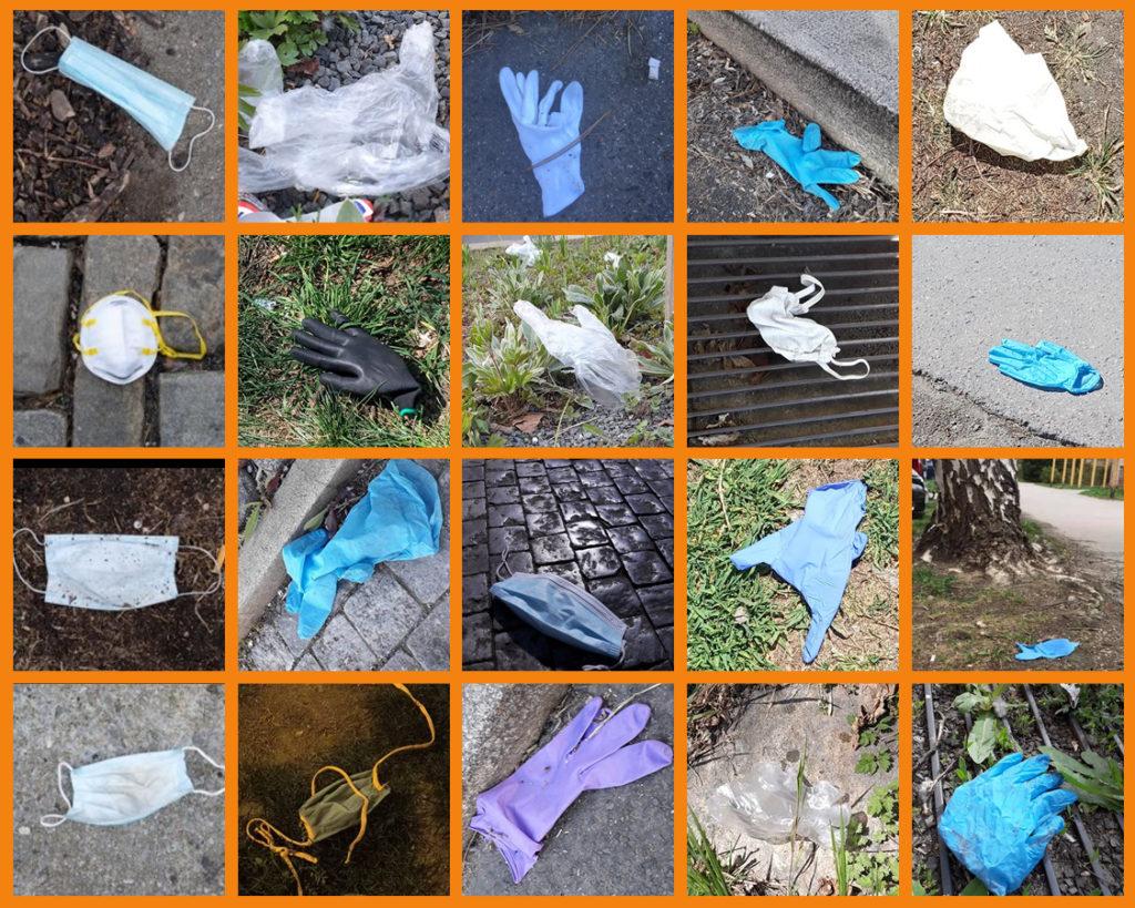 Odhozené roušky a rukavice aneb nový nešvar ve společnosti