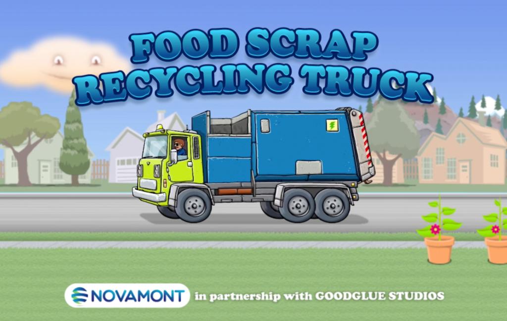 Italská společnost Novamont vytvořila mobilní hru pro děti, která je učí o recyklaci potravinového odpadu a kompostování